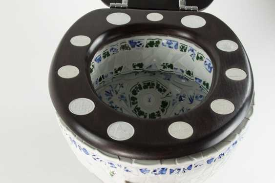 Toilet bowl Meissen porcelain pieces, one of a kind, artist made, one of a kind!!! - photo 11