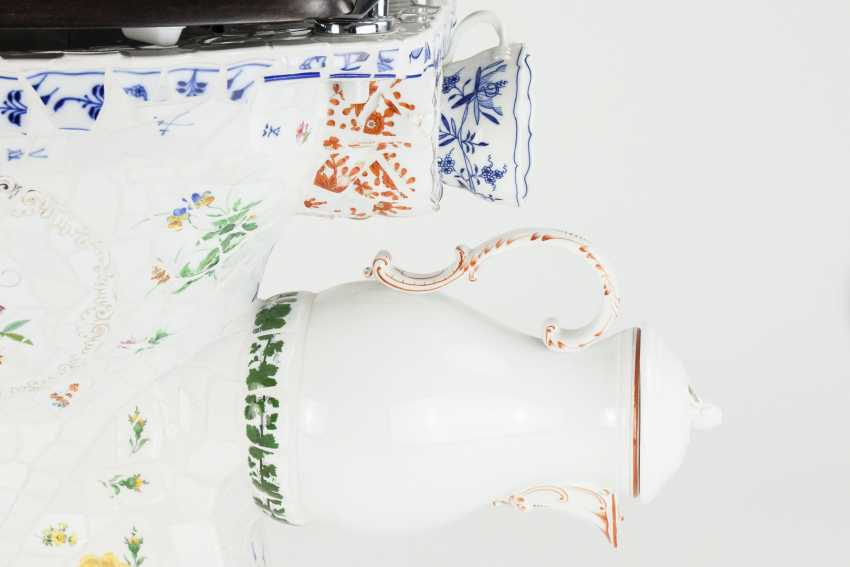 Toilet bowl Meissen porcelain pieces, one of a kind, artist made, one of a kind!!! - photo 8