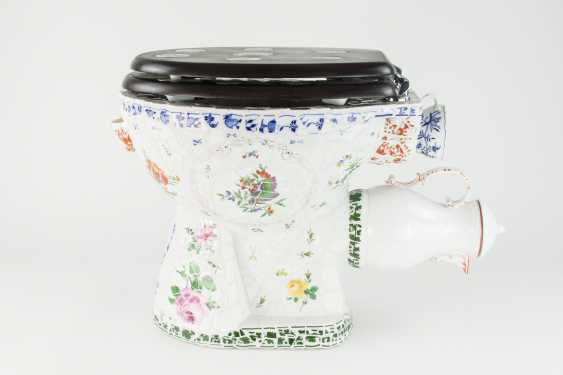 Toilet bowl Meissen porcelain pieces, one of a kind, artist made, one of a kind!!! - photo 1
