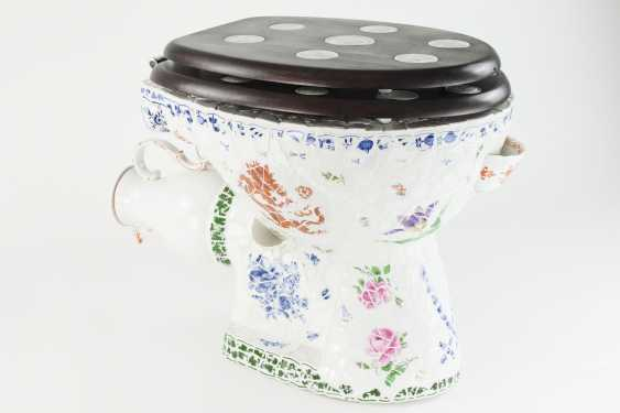 Toilet bowl Meissen porcelain pieces, one of a kind, artist made, one of a kind!!! - photo 5