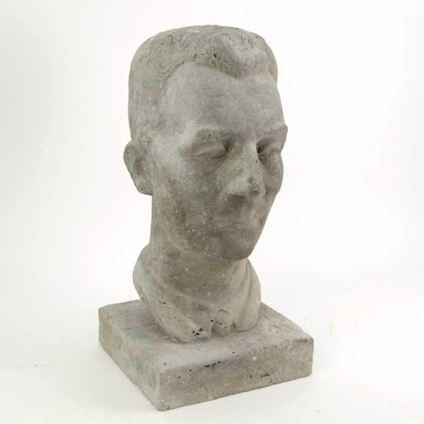 Harald Stephan: Frédéric Joliot-Curie, Portrait-Büste, Unikat - photo 4