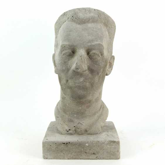 Harald Stephan: Frédéric Joliot-Curie, Portrait-Büste, Unikat - photo 1