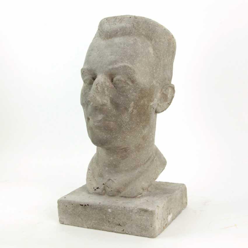 Harald Stephan: Frédéric Joliot-Curie, Portrait-Büste, Unikat - photo 2