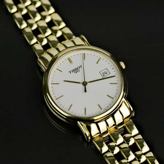 Mr bracelet watch, Tissot of Switzerland, in Yellow-Gold 750 / 18 carats, mint condition, probably never worn. - photo 2
