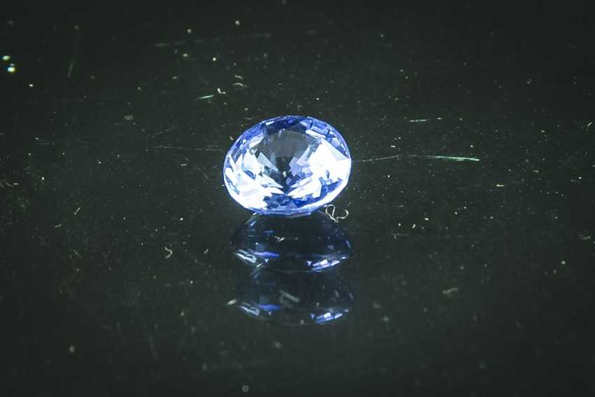 Light blue sapphire of 2.59 ct - photo 1