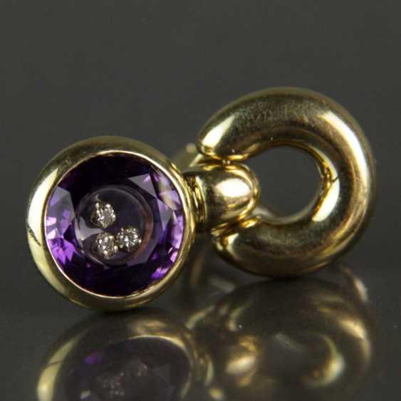 Besonderes Schmuck-Set, Chopard-Stil / Happy-Diamonds-Stil, Gelbgold 750, Amethyst und Brillanten - photo 1