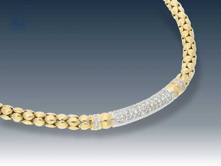 Chain/necklace: decorative necklace with diamonds, 18K Gold - photo 1