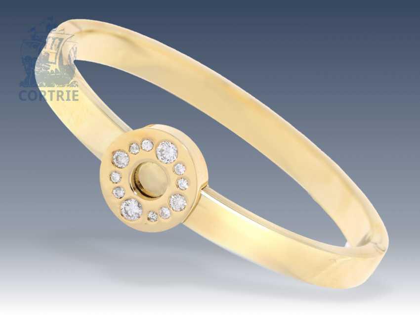 Bangle bracelet: vintage bracelet with approximately 0.8 ct brilliant, high-quality goldsmith's production - photo 1