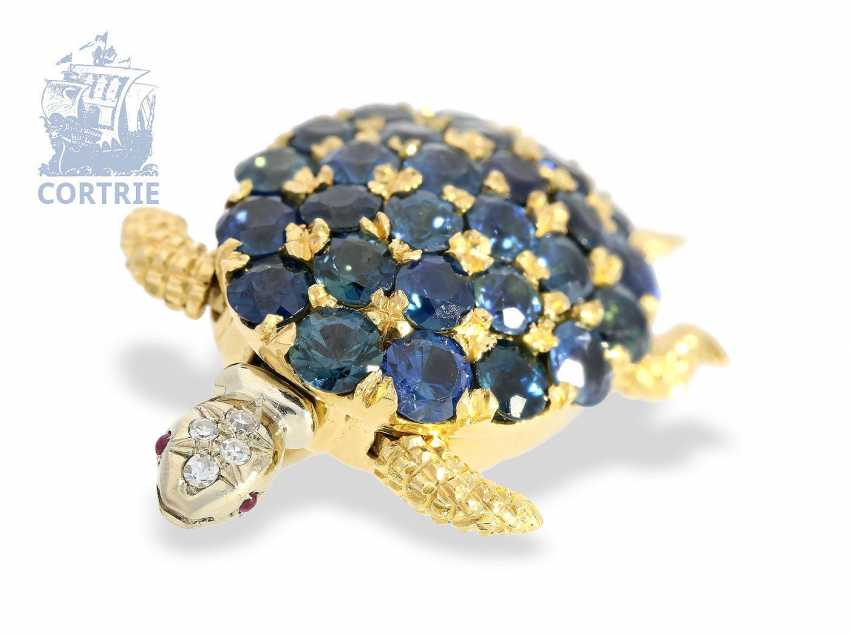 "Brooch: unusual gold vintage brooch, ""turtle"", 18K Gold, probably Bucherer - photo 1"