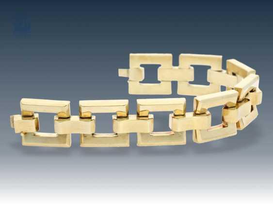 Bracelet: wide vintage gold bracelet wrought, probably around 1960 - photo 1