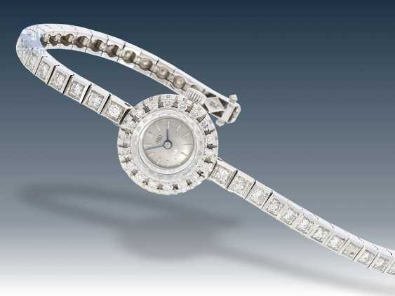 Watch: decorative, complete with diamond-studded ladies watch from the 70's, 18K white gold - photo 1
