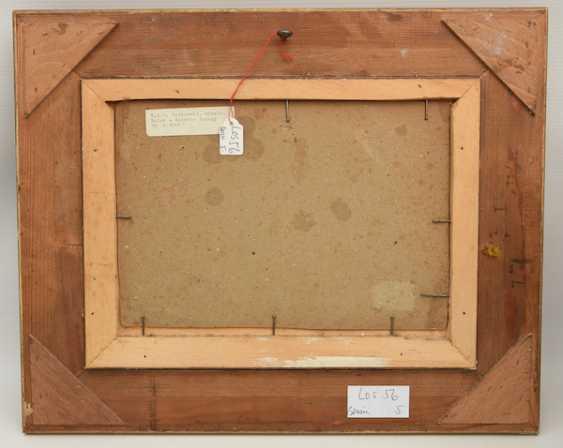 """NIKOLAI GERHARD VON GRÜNEWALDT,""""Winterliche Flusslandschaft"""", Öl auf Pappe, gerahmt, signiert und datiert - Foto 3"""