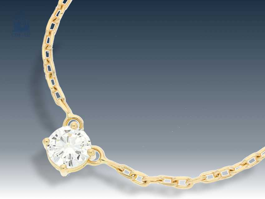 Necklace/Collier: high-quality, modern-brilliant-solitaire-necklace, fine anchor chain - photo 1