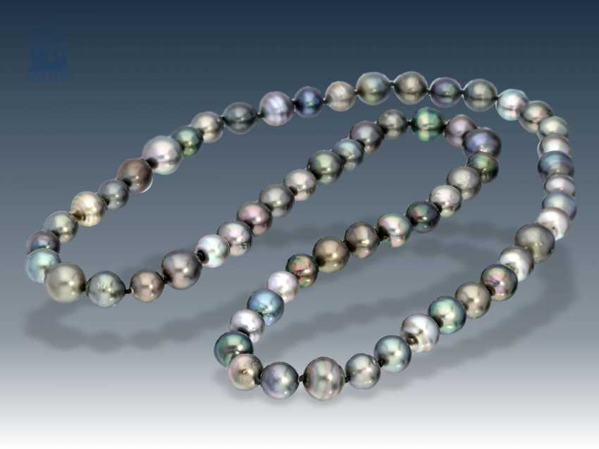 Necklace/Collier: high-quality Tahitian cultured pearls necklace - photo 1