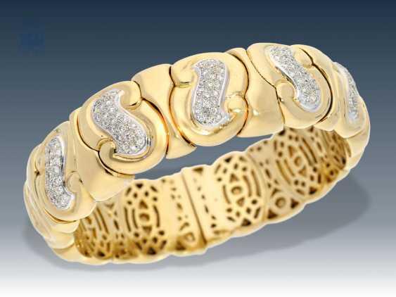 Bracelet: very high quality, exceptional vintage Mature, Brilliant, Italian Designer jewelry, signed Bvlgari - photo 1