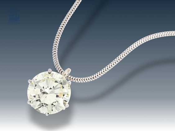 Chain/pendant: new snake chain with high quality brilliant solitaire pendant, approx 4,25 ct - photo 1