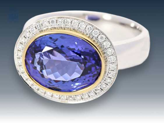 Ring: tanzanite gold wrought ring top quality, mint condition - photo 1