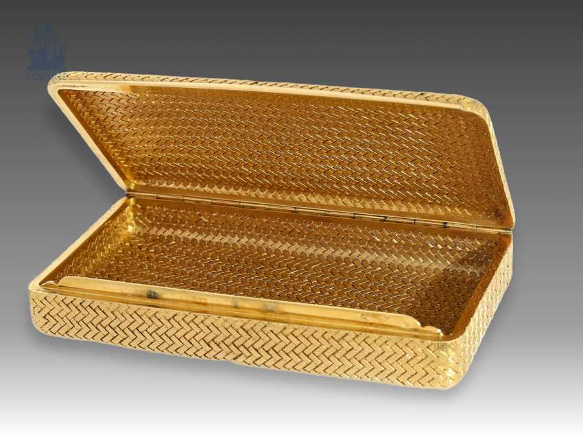 Box/case: exclusive antique purse made of 18K Gold, Vienna Goldpunze from 1922, maker's mark PB - photo 1