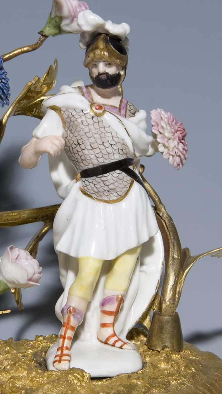 Pendant Kerzenleuchter. MEISSEN Mitte 18. Jahrhundert, - photo 3
