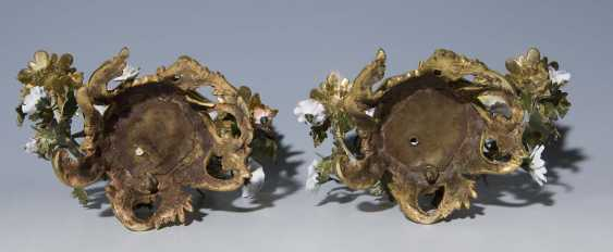 Pendant Kerzenleuchter. MEISSEN Mitte 18. Jahrhundert, - photo 4