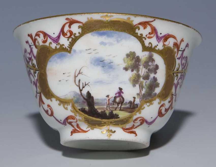 Baroque-Kopp, Saucer. MEISSEN 1725-1735, - photo 3