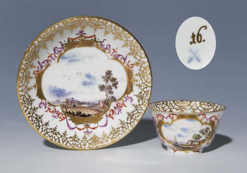 Baroque-Kopp, Saucer. MEISSEN 1725-1735, - photo 1