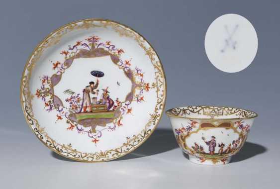 Baroque-Kopp, Saucer. MEISSEN 1730-1740, - photo 1