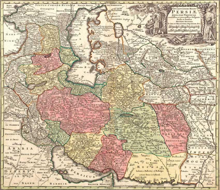 Persien Karte.Los 1994 Karte Von Persien Aus Dem Katalog Internationale Kunst