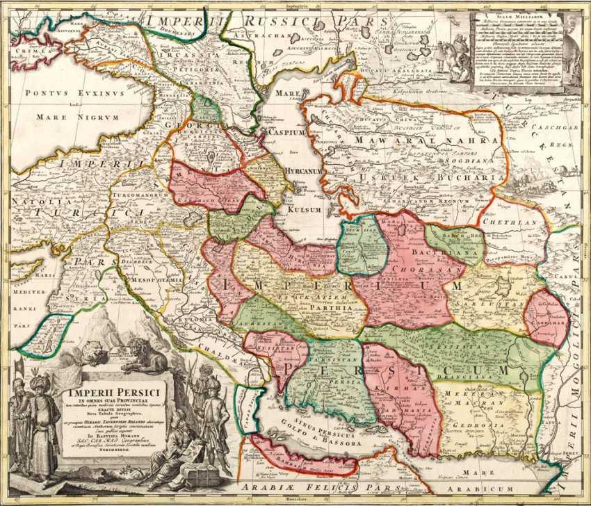 Persien Karte.Los 1995 Karte Von Persien Aus Dem Katalog Internationale Kunst