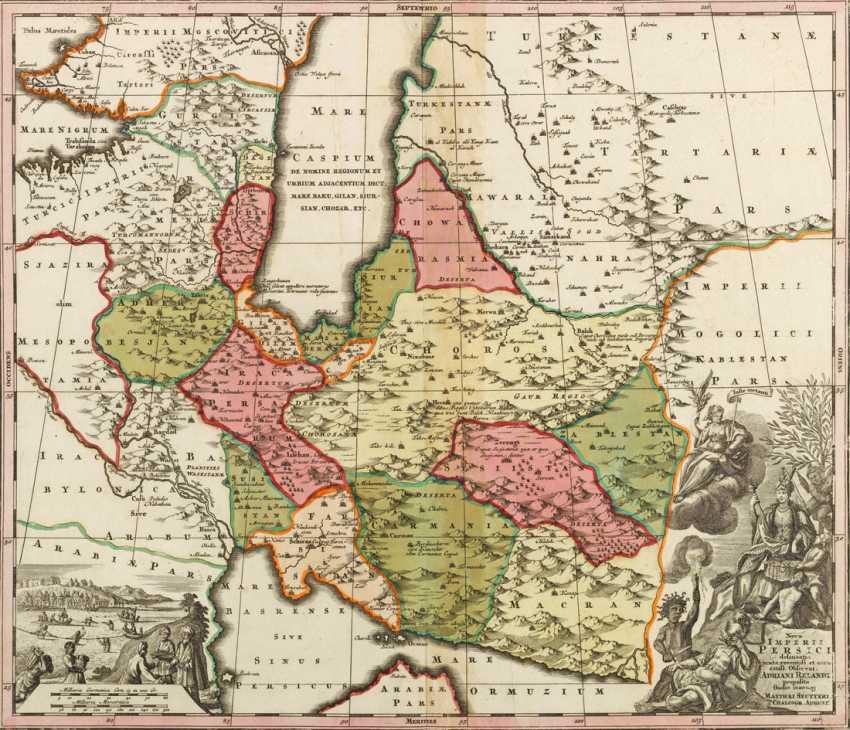 Persien Karte.Los 1996 Karte Von Persien Aus Dem Katalog Internationale Kunst