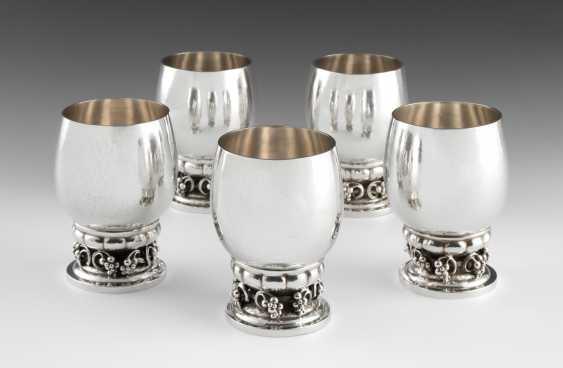*Lot: 5 Foot Cups, Georg Jensen - photo 1