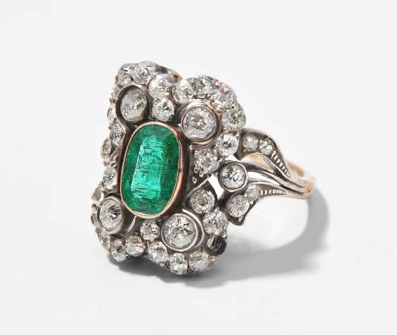 Smaragd-Diamant-Ring - photo 1