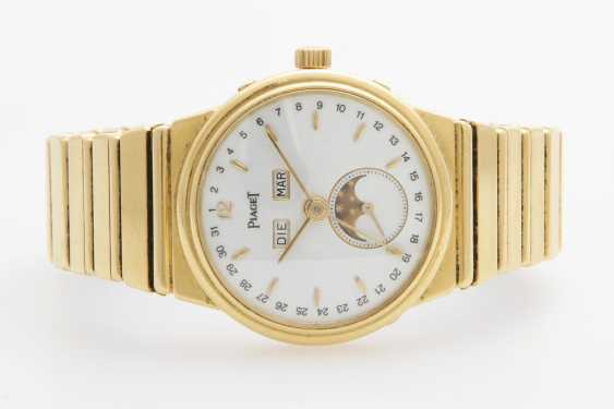 "PIAGET Herrenuhr ""Polo Calendar"", 1980er Jahre. Gelbgold 18K. - photo 1"
