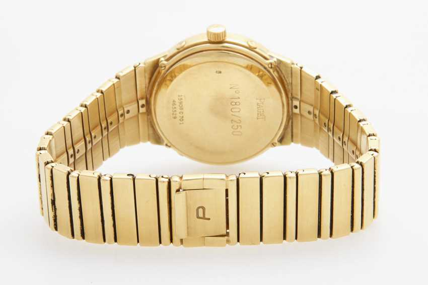 "PIAGET Herrenuhr ""Polo Calendar"", 1980er Jahre. Gelbgold 18K. - photo 2"