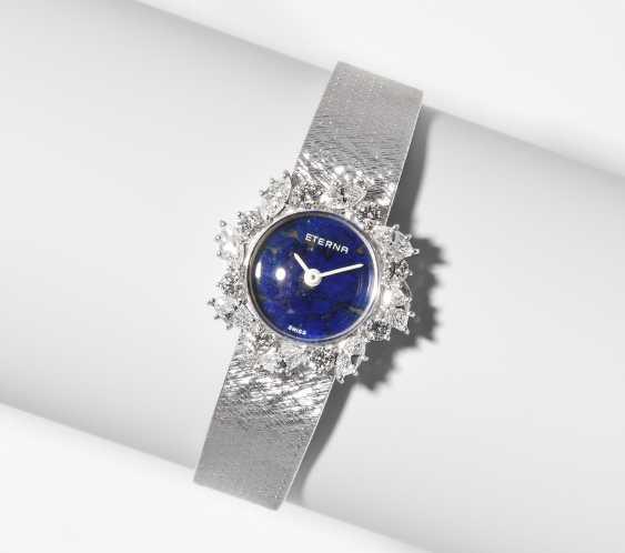Eterna Lapis Lazuli Diamond Ladies Wrist Watch - photo 1