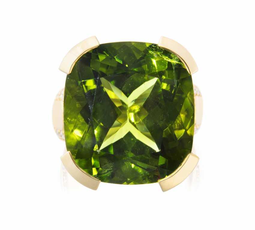 Peridot-Brillant-Ring - photo 1