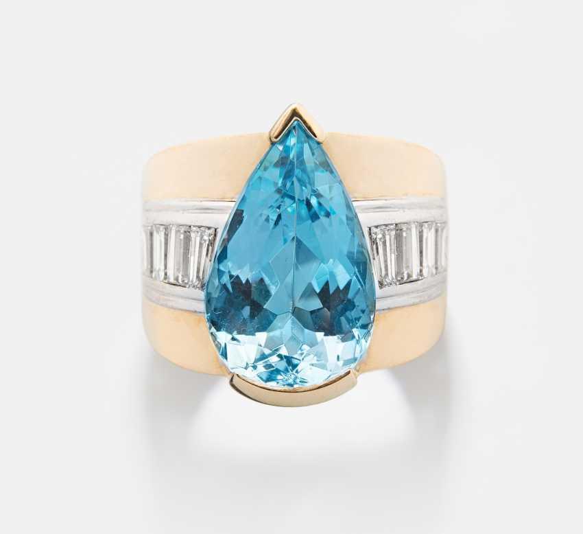 Aquamarin-Diamant-Ring - photo 1