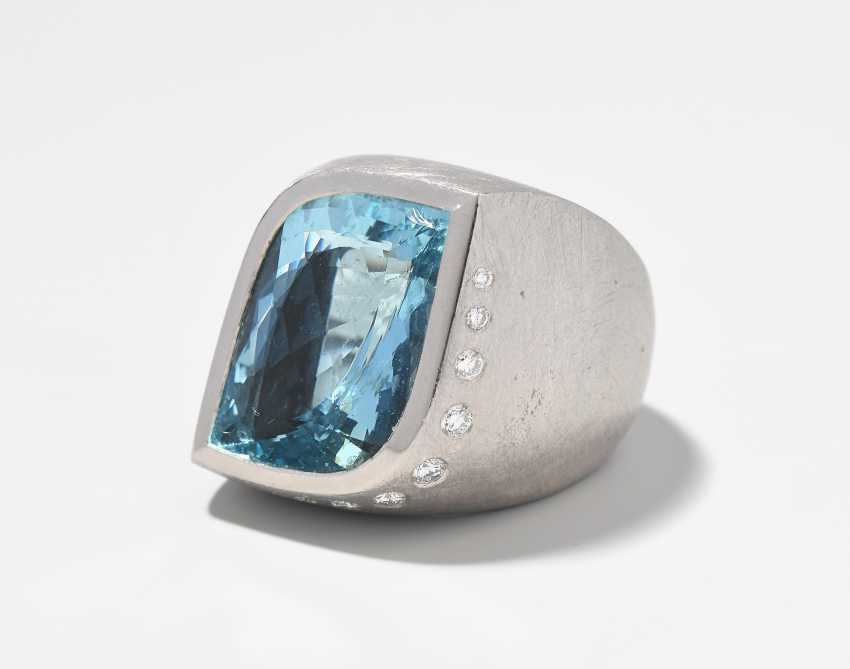 Aquamarin-Brillant-Ring - photo 1