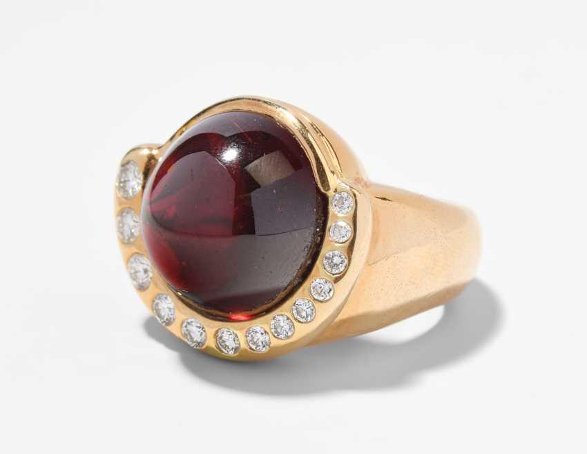 Granat-Brillant-Ring - photo 1