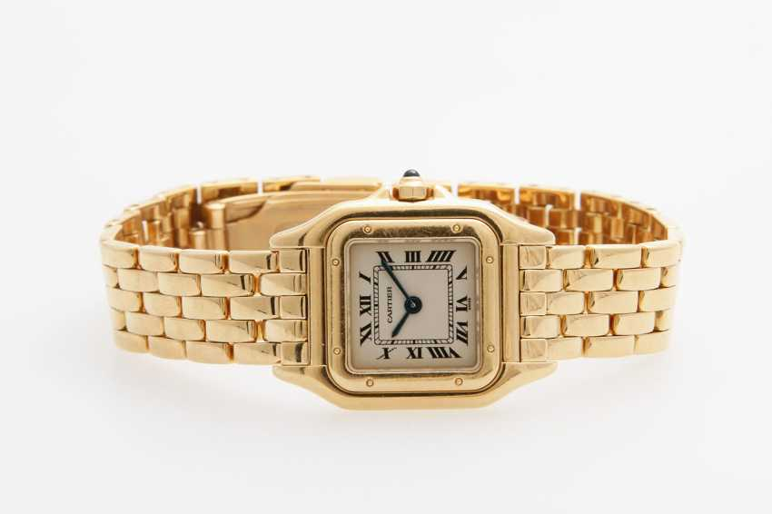 "CARTIER Damenuhr ""Panthere"". Gelbgold 18K. - photo 1"