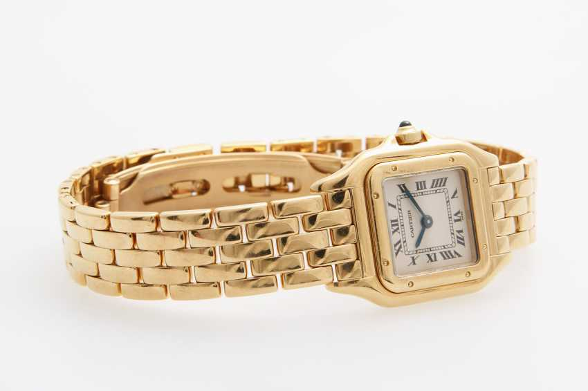 "CARTIER Damenuhr ""Panthere"". Gelbgold 18K. - photo 2"