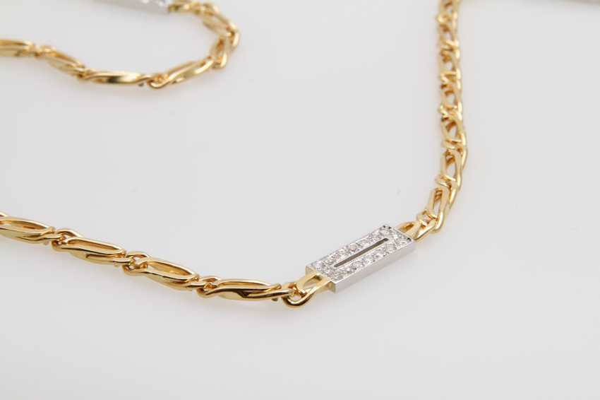 Necklace with diamonds - photo 2