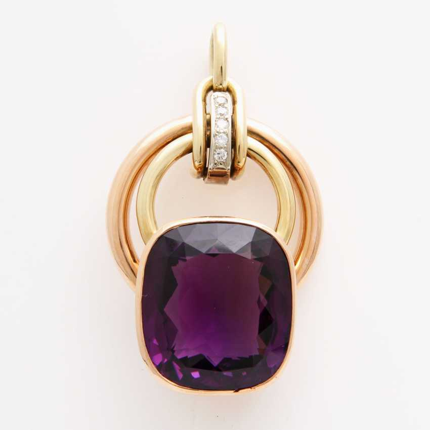 Pendant made of a fac. Amethyst