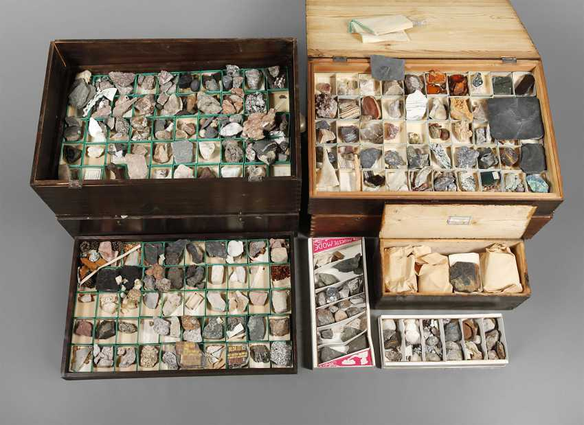 Lot 70  Mineral and rock collection from the catalog
