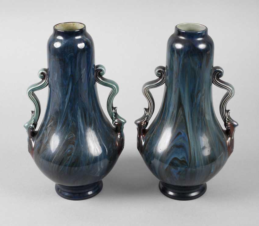 Villeroy U0026 Boch Pair Of Art Nouveau Vases