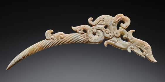 "A UNIQUE ELEGANT AND DELICATELY CARVED DRAGON-SHAPED XI OR ""KNOT-OPENER"" - photo 1"