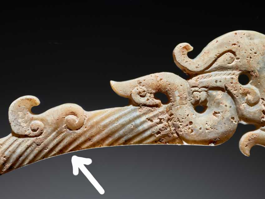 "A UNIQUE ELEGANT AND DELICATELY CARVED DRAGON-SHAPED XI OR ""KNOT-OPENER"" - photo 5"