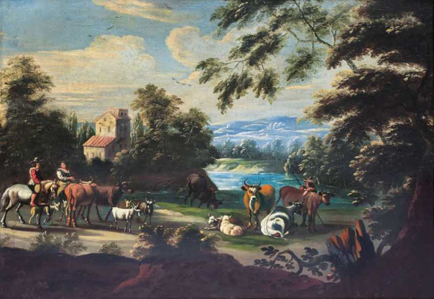 Resting on the river. Flemish Masters - photo 1