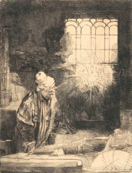 A scholar in his chamber - fist. Rembrandt Harmenszoon van Rijn - photo 1