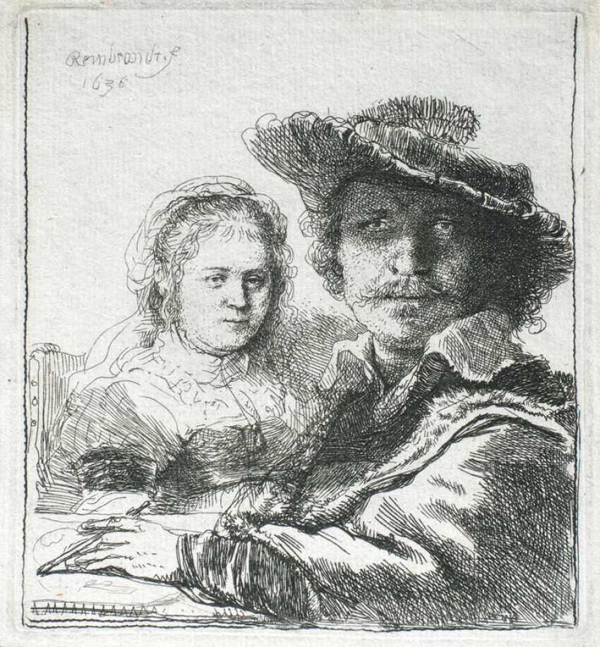 Self-portrait with Saskia. Rembrandt Harmenszoon van Rijn - photo 1